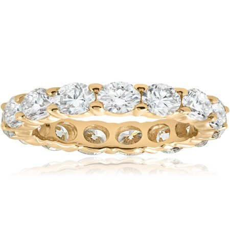 Unique Huge 5.00Ct Round Diamond Eternity Ring Wedding Band 14k Yellow (Unique Diamond Wedding Band)