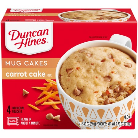 Duncan Hines® Perfect Size for 1® Decadent Carrot Cake Mix 4 ct Box (Carrot Cake Halloween)