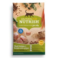 Rachael Ray Nutrish Chicken & Brown Rice Natural Dry Cat Food (Various Sizes)