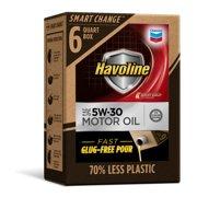 Havoline SMART CHANGE® Motor Oil 5W-30, 6qt