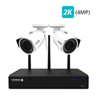 Defender 2K (4MP) Wireless 4 Channel 1TB NVR Security System with Remote Viewing, Motion Detection and 2 Wide Angle, Night Vision Wi-Fi Cameras
