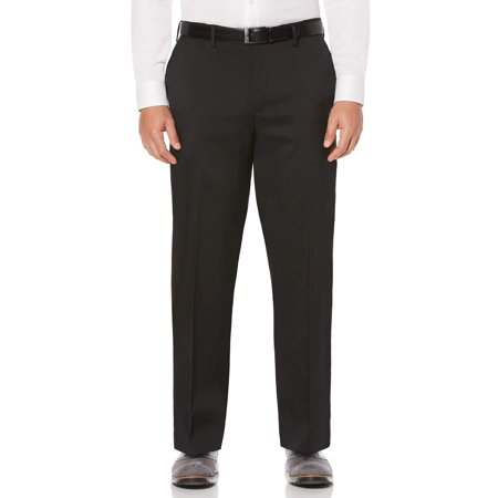 Flat Front Stretch Crosshatch Dress Pant