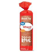 Great Value Wheat Bread, Round Top, 20 oz