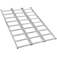 69'' Tri-Fold Aluminum Folding Loading Ramp for ATV Motorcycle Truck Trailer Lawnmower, 1500lb Capacity