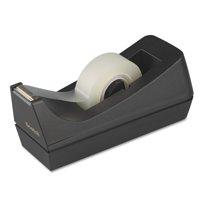"Scotch Desktop Tape Dispenser, 1"" Core, Weighted Non-Skid Base, Black"