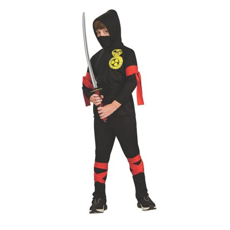 Halloween Fuller Cut Black Ninja Child Costume](Halloween Costume Ideas Black Corset)