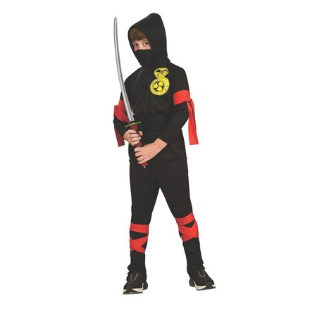Halloween Fuller Cut Black Ninja Child Costume - Halloween Cut Fingers