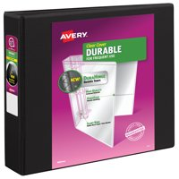 "Avery 1.5"" Durable View Binder, Slant Ring, Black, 375 Sheets"