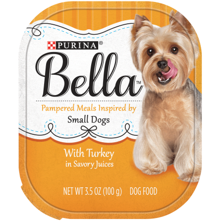 Purina Bella Small Breed Pate Wet Dog Food, Turkey in Savory Juices - (12) 3.5 oz. Trays (Wet Food For Small Dogs)