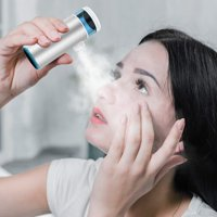 CISNO Mini Handheld Nerbuliser Inhaler, Face Steamer ,Household USB Rechargeable Humidifier, Mist Kit