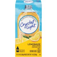 (4 pack) Crystal Light On-The-Go Sugar-Free Lemonade Drink Mix, 10 Packets