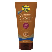 Banana Boat Summer Color Self-Tanning Lotion Deep Dark - 6 Ounces