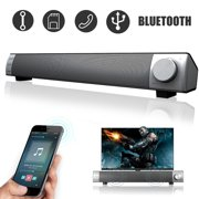 Home TV Theater 3D Surround Stereo Super Bass Sound Bar Wireless bluetooth 4.2 Speakers Music Player