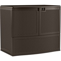 Suncast 195 Gallon Resin Backyard Oasis® Storage and Entertaining Station, VDB19500