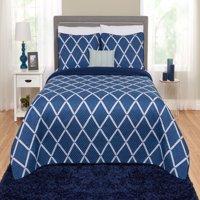 Better Homes and Gardens Diamond Quilt, Sham & Dec Pillow Set