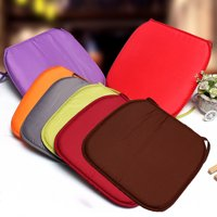 37 x 37 x 1.5cm Square Dining Chair Seat Pad, 1.5cm Thickness Office Mat Cover Garden Home Decor, Assorted Colors Indoor Outdoor Chair Cushion with Ties
