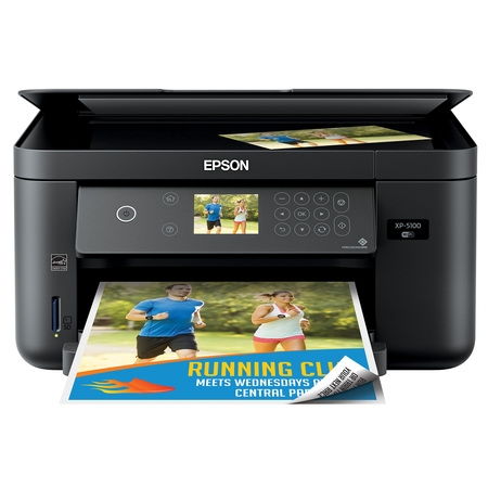 - Epson Expression Home XP-5100 Wireless Color Photo Printer with Scanner & Copier (Walmart Exclusive)
