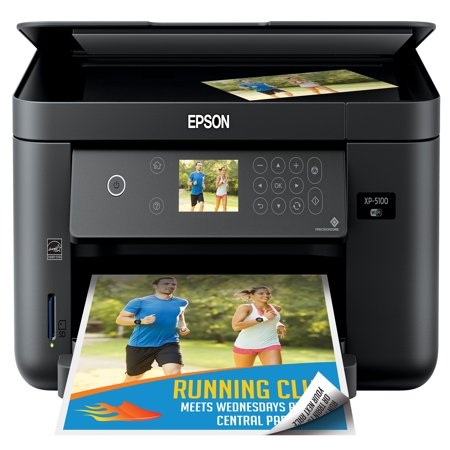 Epson Expression Home XP-5100 Wireless Color Photo Printer with Scanner & Copier (Walmart Exclusive) ()