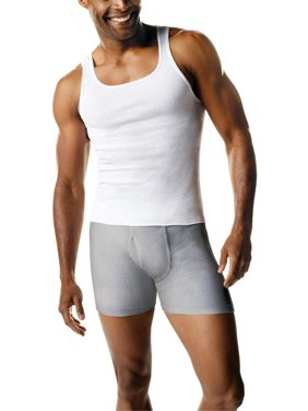 Men's Fresh IQ White Tagless Tank 6+1 Bonus Pack