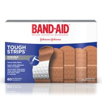 Band-Aid Brand Tough-Strips Adhesive Bandage, All One Size, 60 ct