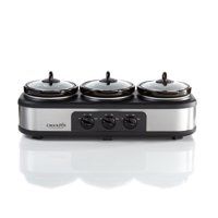 Crock-Pot Trio Cook and Serve Slow Cooker and Food Warmer, Stainless Steel