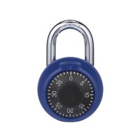 Brink's 48mm Dial Combination Padlock, Assorted Colors