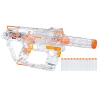 Nerf Modulus Ghost Ops Evader with 12 Nerf Darts, 12-Dart Clip, and Light-Up Barrel Extension