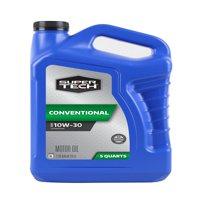 Super Tech Conventional SAE 10W-30 Motor Oil, 5 Quarts