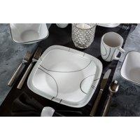 Corelle Square Simple Lines 16-Piece Dinnerware Set