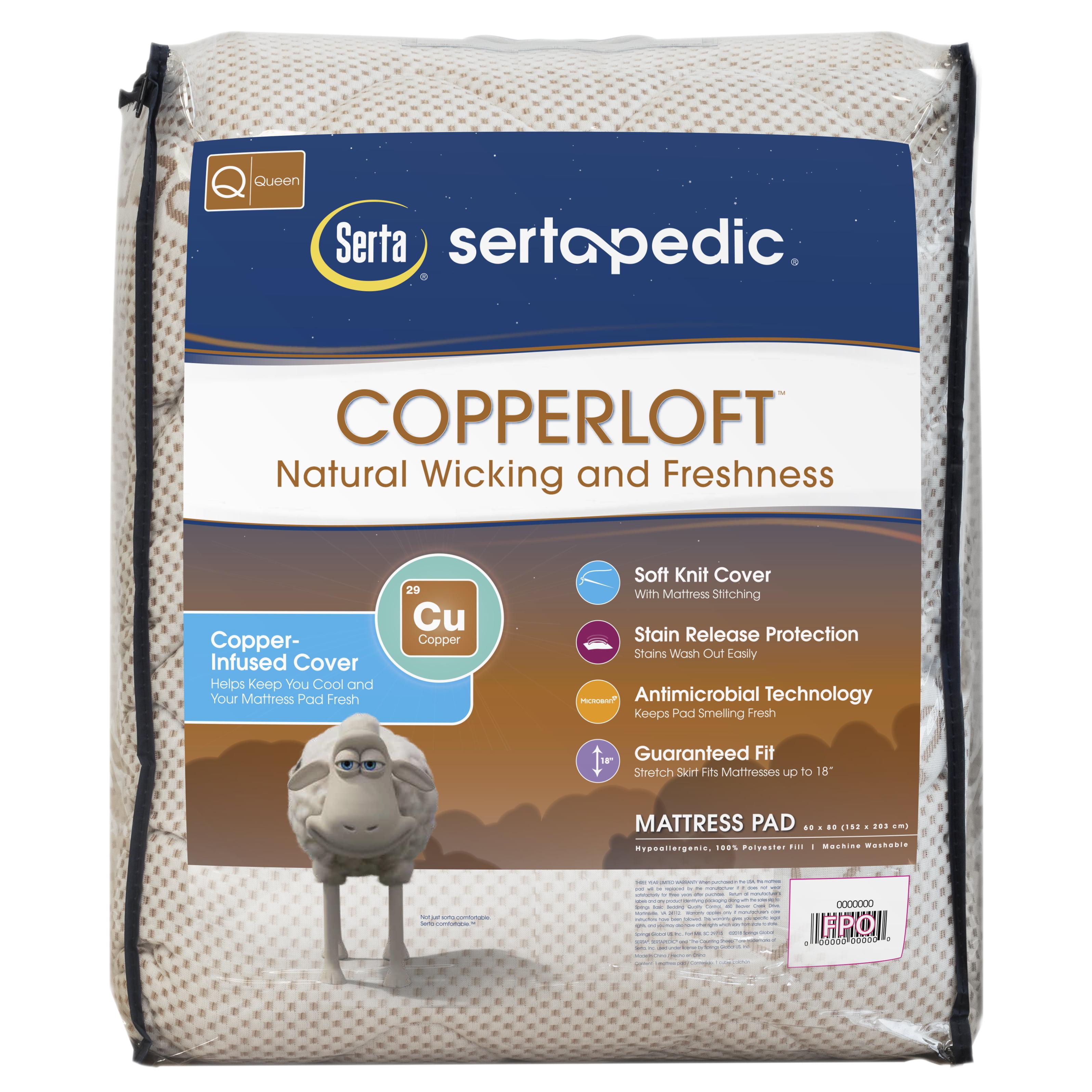 Sertapedic Copper Loft Mattress Pad by Serta, Queen