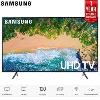 """Samsung UN75NU7100 (UN75NU7100FXZA) 75"""" NU7100 Smart 4K UHD TV 2018 Model with 1 Year Extended Warranty"""