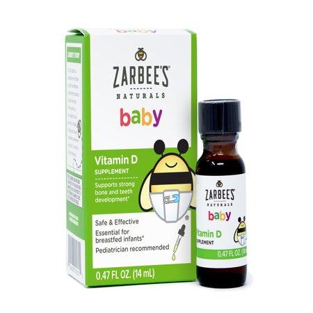 Zarbee S Naturals Baby Vitamin D Supplement 0 47 Fl