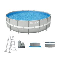 """Intex 20' x 48"""" Ultra Frame Above Ground Swimming Pool Set w/ Pump and Ladder"""