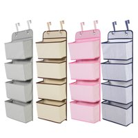Yosoo 4 Pocket Over the Door Wall Mount Hanging Organizer