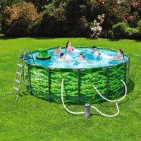 "Bestway Steel Pro MAX Camo 14' x 48"" Frame Swimming Pool Set"