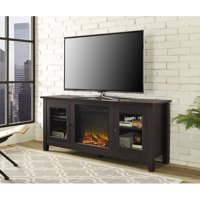 """Traditional Wood Fireplace TV Stand for TVs up to 60"""" Espresso"""