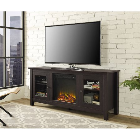 Traditional Wood Fireplace Tv Stand For Tvs Up To 60 Espresso