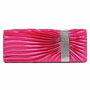 2896525cd1 Long Pleated Satin Clutch Bag