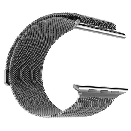 Black Ion Stainless Steel Band (Stainless Steel Milanese Loop Replacement Band for 42MM Apple Watches -)