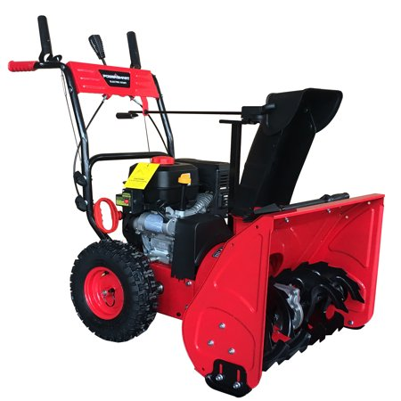 PowerSmart DB7279 24inch Two Stage Gas Snow Blower with Electric Start