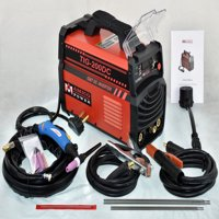 Amico 200 Amp TIG Torch Stick Arc 2-IN-1 Welder 110/230 Dual Voltage Input Welding TIG-200DC