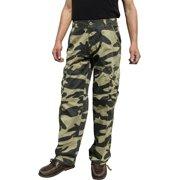56c080e3d4121 Mens Military-Style Camoflage Cargo Pants  27C1 32x32 Khaki Camo