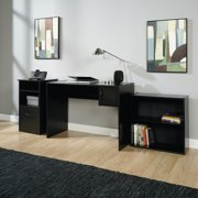 Mainstays 3-Piece Desk and Bookcase Office Set, Black Finish