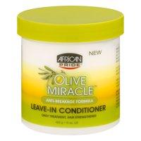 (2 Pack) African Pride Olive Miracle Anti-Breakage Formula Leave-In Conditioner 15 oz. Jar