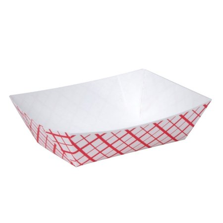 A World Of Deals #25 Paperboard Red Check Food Tray, 1/4-lb Capacity, 250 (Best Deal On Check Printing)