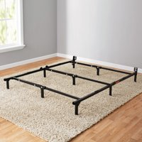 "Mainstays 7"" Adjustable Bed Frame, Black Steel"