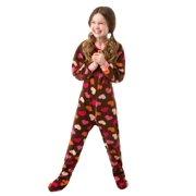 01e56fbda Big Feet Pjs Kids Footed One Piece Sleeper Chocolate Brown with Hearts  Footed Pajamas