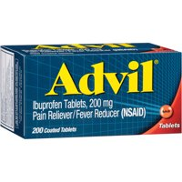 (2 pack) Advil® Pain Reliever/Fever Reducer (Ibuprofen) 200mg Tablets 200 ct Box, 200 CT