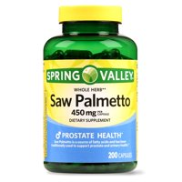 Spring Valley Whole Herb Saw Palmetto Capsules, 450 mg, 200 Ct