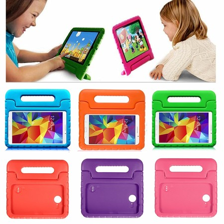 1Pcs Kids Handle EVA Foam Lightweight Shockproof Case Cover Stand For Samsung Galaxy Tab 4 - 8.0